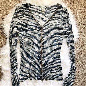 Cache Embellished zip top